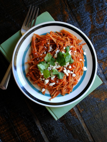 fideo, sopa seca, lent recipe