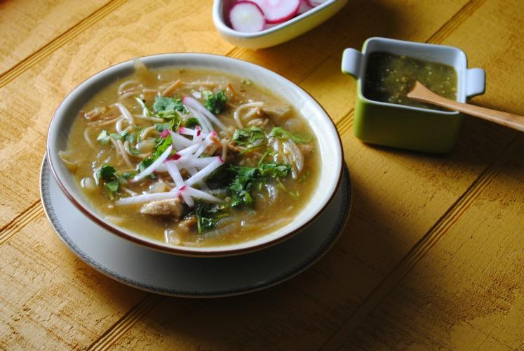 SOPA  DE  FIDEO verde pollo sweetlifebake Sopa de Fideo Verde con Pollo soups stews