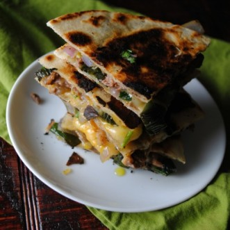 Roasted Poblano Fajita Quesadilla
