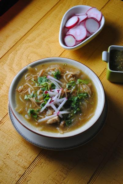 fideo sopa verde sweetlifebake Sopa de Fideo Verde con Pollo soups stews