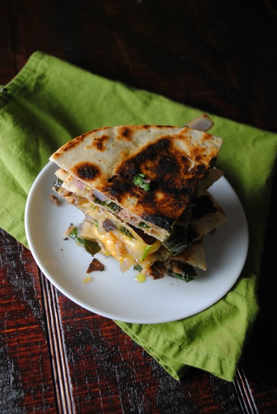 quesadilla poblanos fajita sweetlifebake Roasted Poblano Fajita Quesadilla spicy recipes sandwiches mexican dinners appetizers