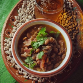 Borracho Beans, beans cooked with beer