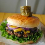 Roasted Poblano Cheddar Cheese Burger