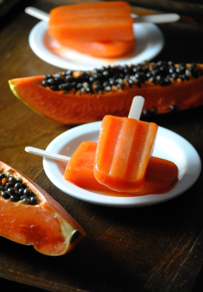 paletas de papaya papaya pops sweetlifebake Paletas de Papaya  uncategorized