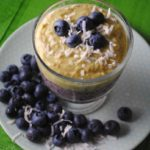 Avocado-Blueberry-Coconut Oatmeal Smoothie