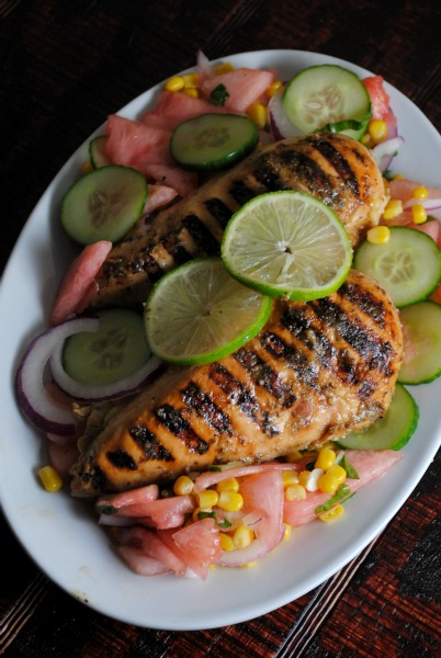 Easy Lime-Garlic Grilled Chicken Breasts - Sweet Life
