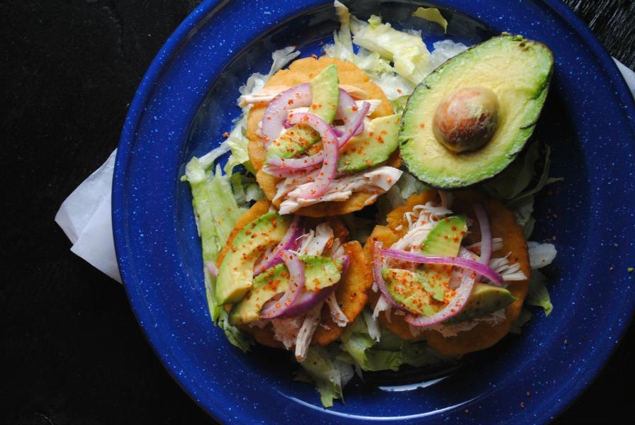 Salbutes - Mexican corn masa appetizer