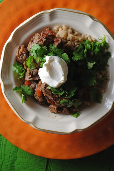 Crock Pot Tomatillo Beef