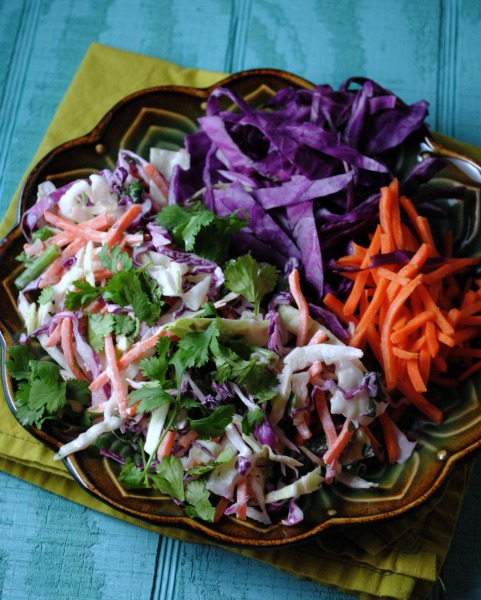 tequila spiked coleslaw cookinglight recipe sweetlifebake Tequila Slaw with Lime and Cilantro side dishes salads