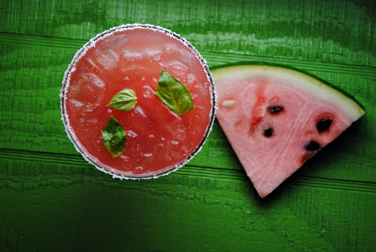 Watermelon Basil Margarita