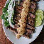 Fajitas with Salsa de Cacahuate