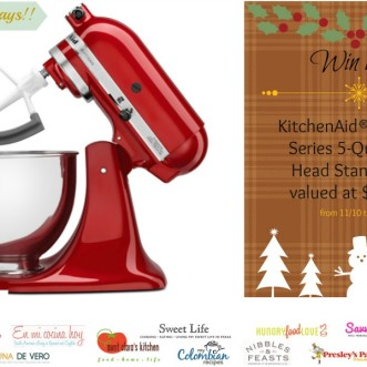 Holiday Giveaway! Enter to Win a KitchenAid® Artisan® Stand Mixer
