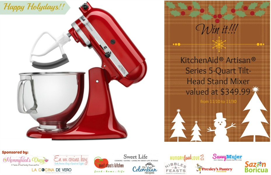 KitckenAid Giveaway2 Holiday Giveaway! Enter to Win a KitchenAid® Artisan® Stand Mixer uncategorized