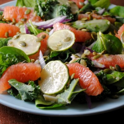 Grapefruit and Hearts of Palm Salad