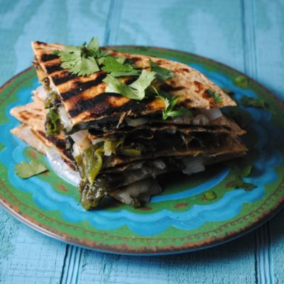 Roasted Poblano Quesadillas