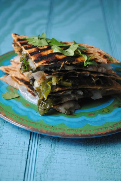 roasted poblano quesadillas VianneyRodriguez sweetlifebake Roasted Poblano Quesadillas vegetarian recipes spicy recipes sandwiches mexican appetizers light dinners appetizers