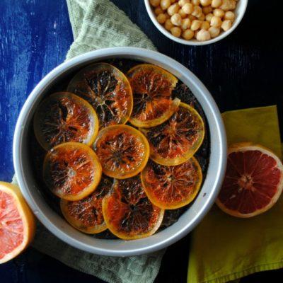 Spicy Citrus Chocolate Hummus Cake