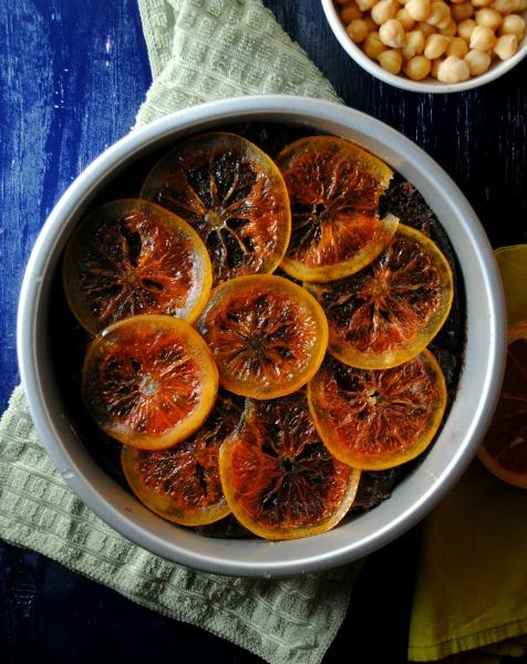 Spicy Citrus Chocolate Hummus Cake recipe from sweetlifebake.com