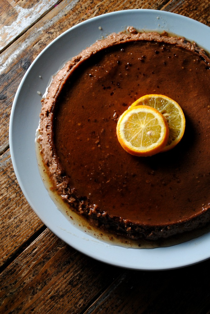 Chocolate-Orange Flan recipe from sweetlifebake.com