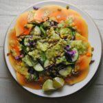 Papaya Salad with Kiwi Lime Dressing