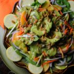 Summer Salad with Avocado Kiwi Dressing   #SummerSalad Prize Pack Giveaway