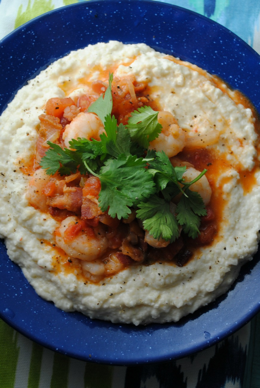 hominy hummus grits VianneyRodriguez Roasted Garlic Hummus Grits  sabra fish seafood family dinners easy dinners dinners
