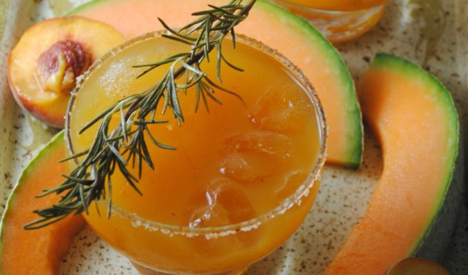 Savory Peach-Melon Cocktail