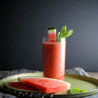 Slushy Watermelon Mojitos