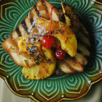 Grilled Pound Cake with Roasted Fruit