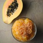 Papaya-Coconut Granita