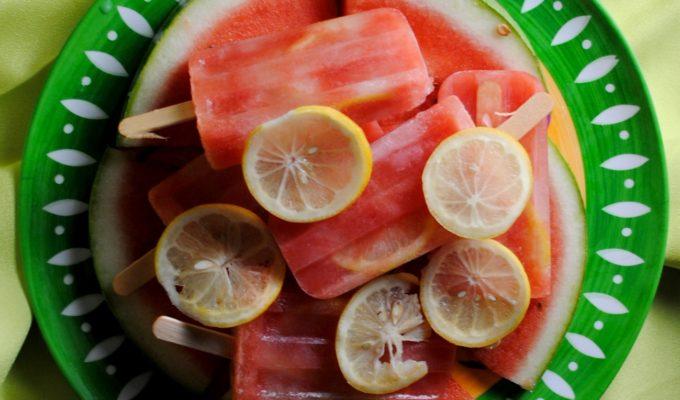 Watermelon Lemonade Popsicles