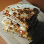 Pinto Bean Sausage Quesadillas