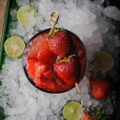 Strawberry Whiskey Sour