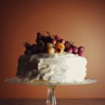Roasted Grape Champagne Cake
