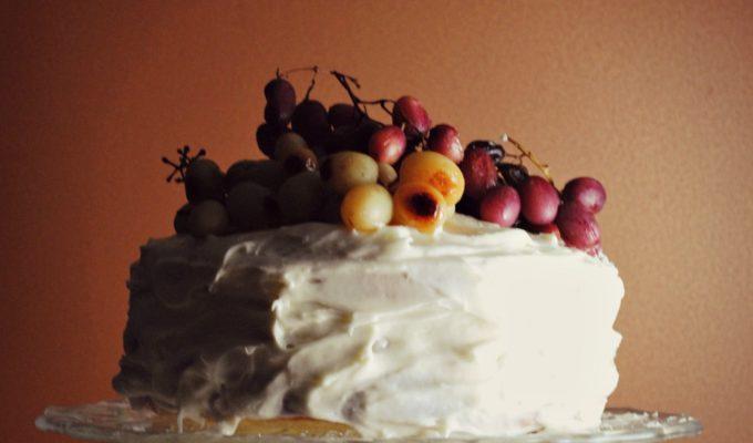 Roasted Grape Champagne Cake