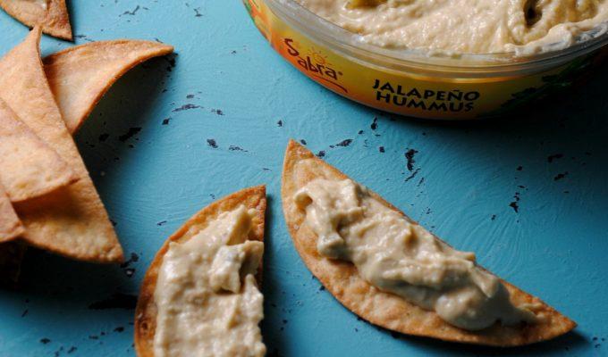 Tostada Hummus Bites