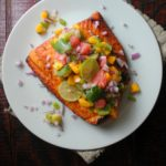 Chile Lime Salmon with Caribbean Salsa