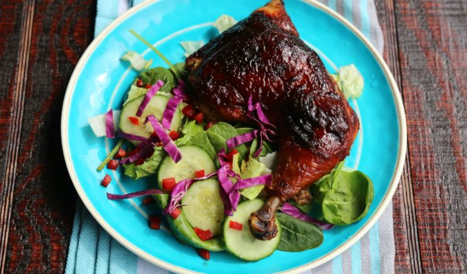 Oven Baked Barbecue Chicken with Coffee Barbecue Sauce