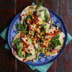 Veggie-Hummus Tacos