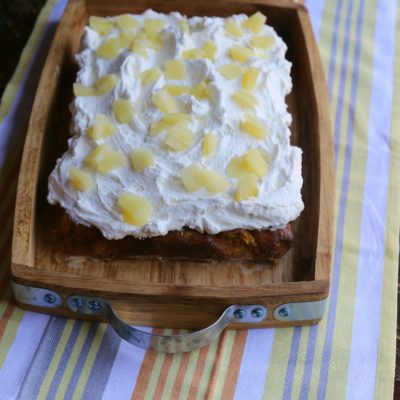 Pumpkin Pineapple Tres Leches Cake
