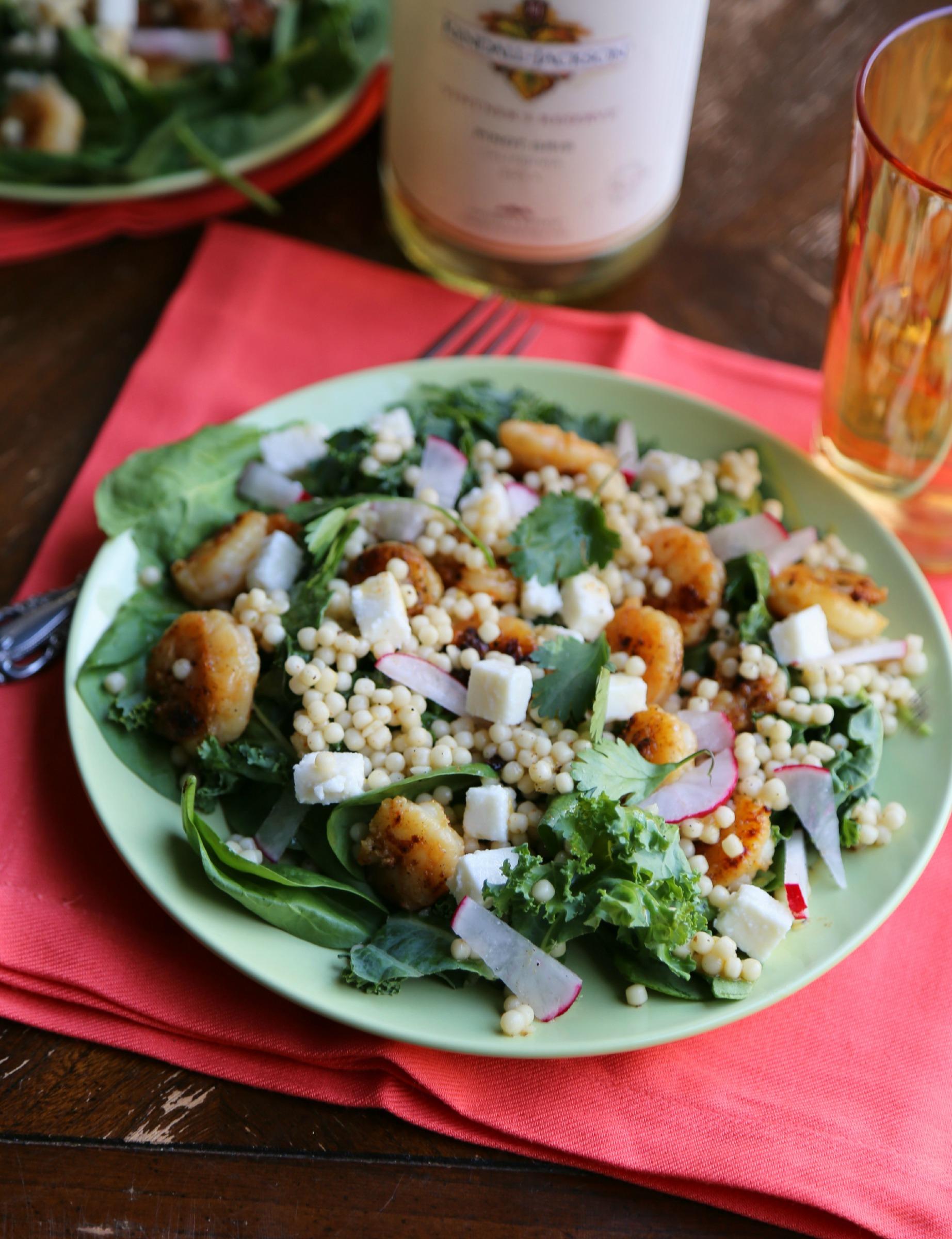 Roasted Shrimp Couscous Salad