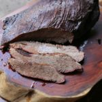Pomegranate-Cocoa Smoked Brisket