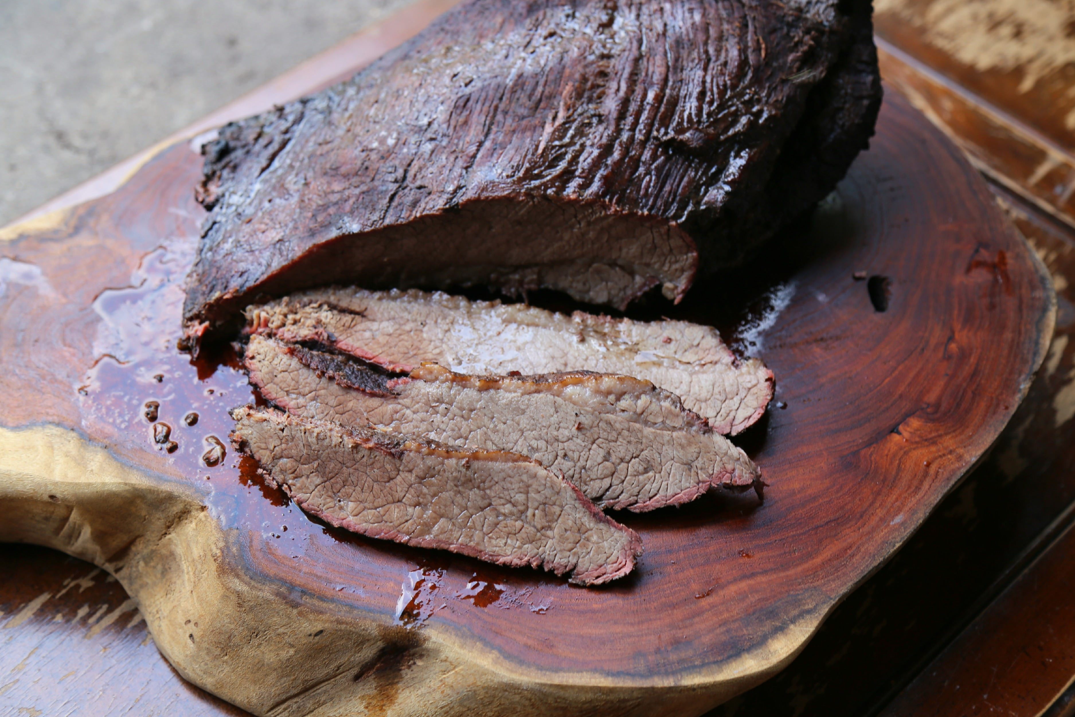 Pomegranate-Cocoa Smoked Brisket - Sweet Life