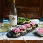 Black Bean Burgers with Pickled Onions