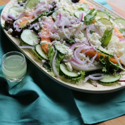 Melon Salad with Tequila Lime Dressing