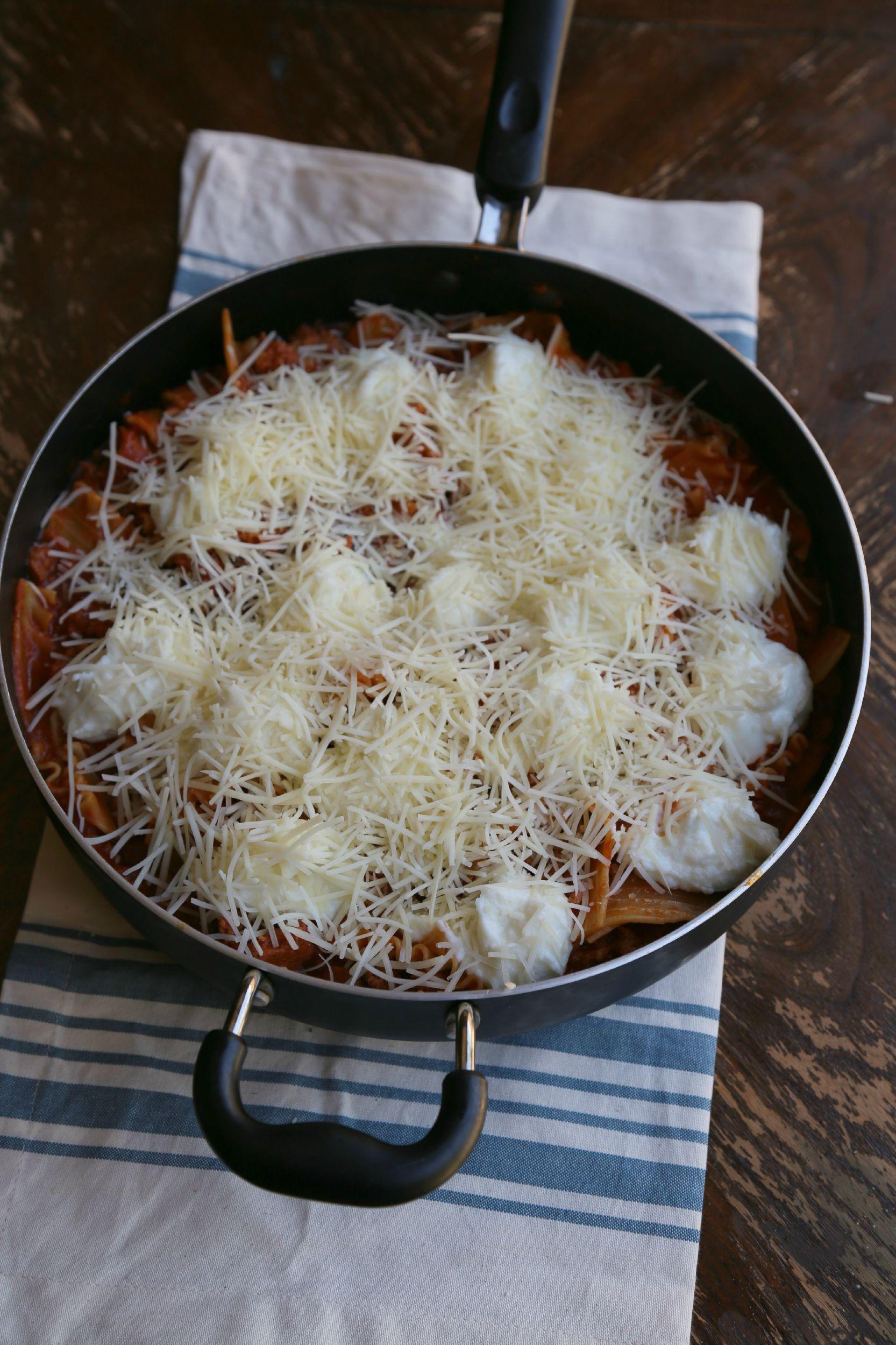 stovetop-turkey-chorizo-skillet-lasagna-VianneyRodriguez-sweetlifebake
