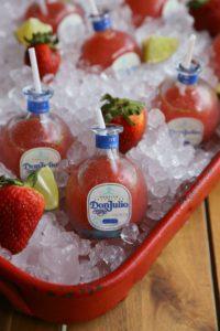 Mini Strawberry Margaritas