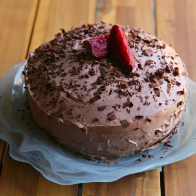 Chocolate Cake with Prickly Pear Jam