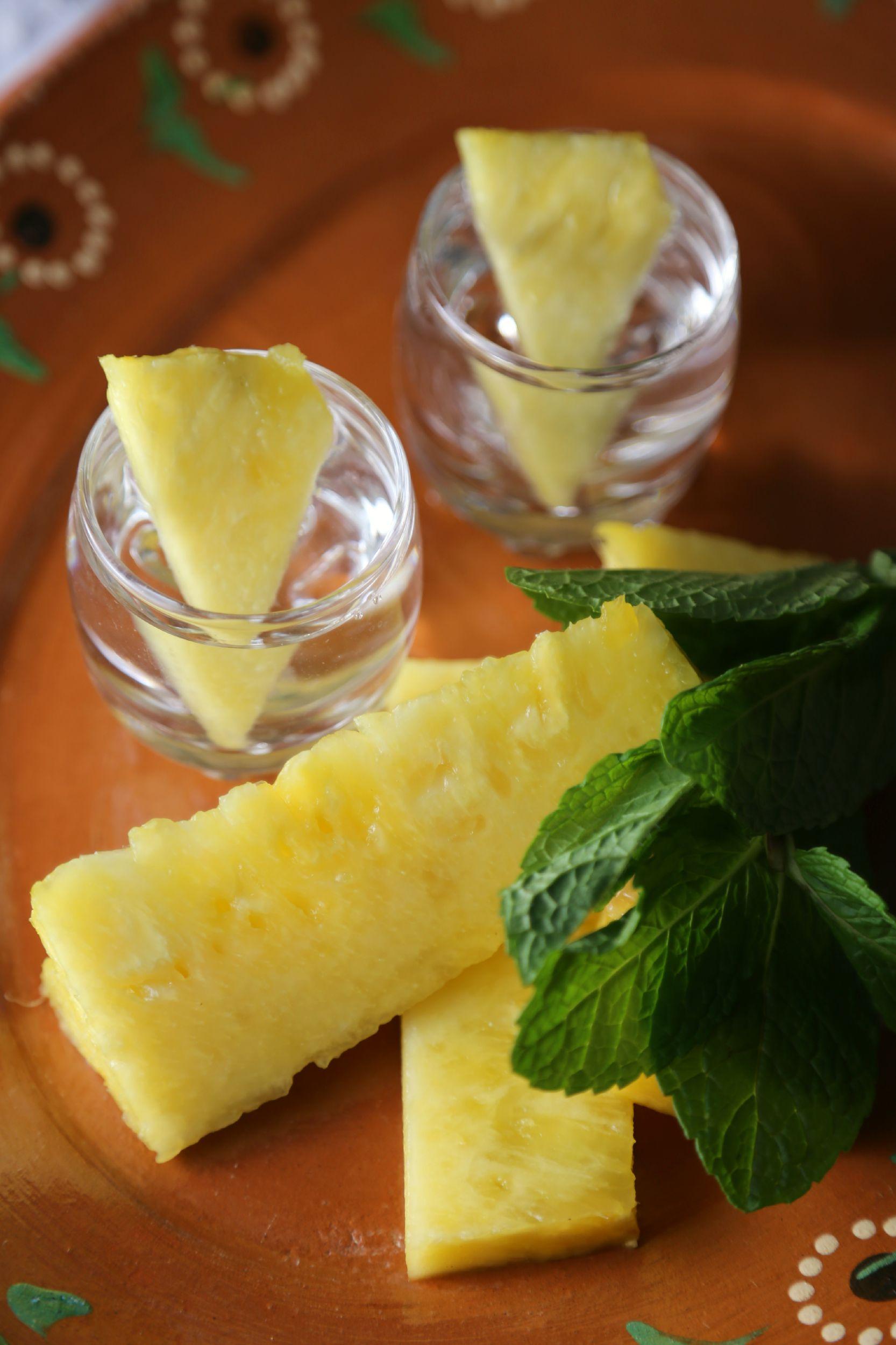 Vodka Infused Pineapple Drinks
