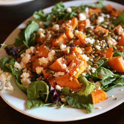 Roasted Sweet Potato Salad with Hibiscus-Lime Vinaigrette